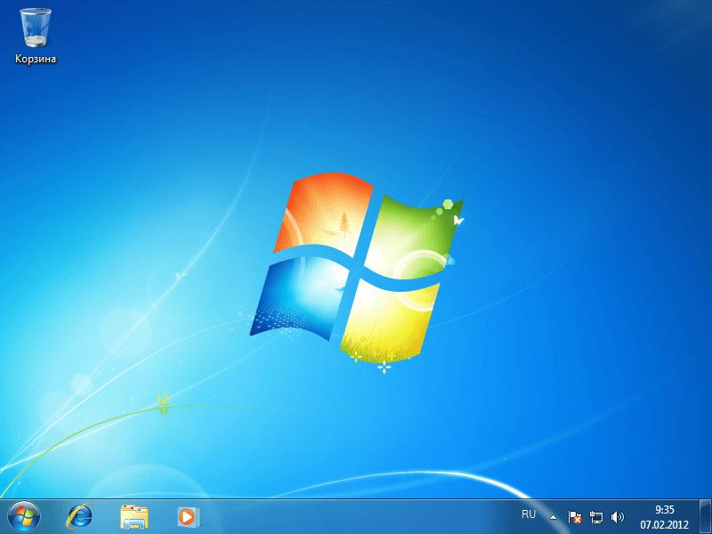 Установка Windows в чистом виде