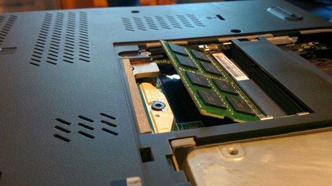 замена памяти в ноутбуке