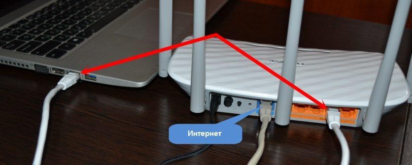 подключение кабелем роутера