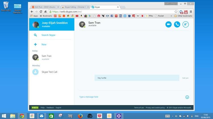 Веб скайп